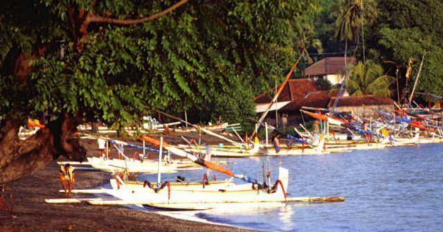 Küste Amed, Bali Reisebericht, Fischrboote Bali